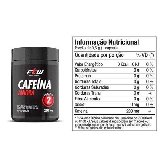 CAFEINA ANIDRA (30CAPS) - FTW