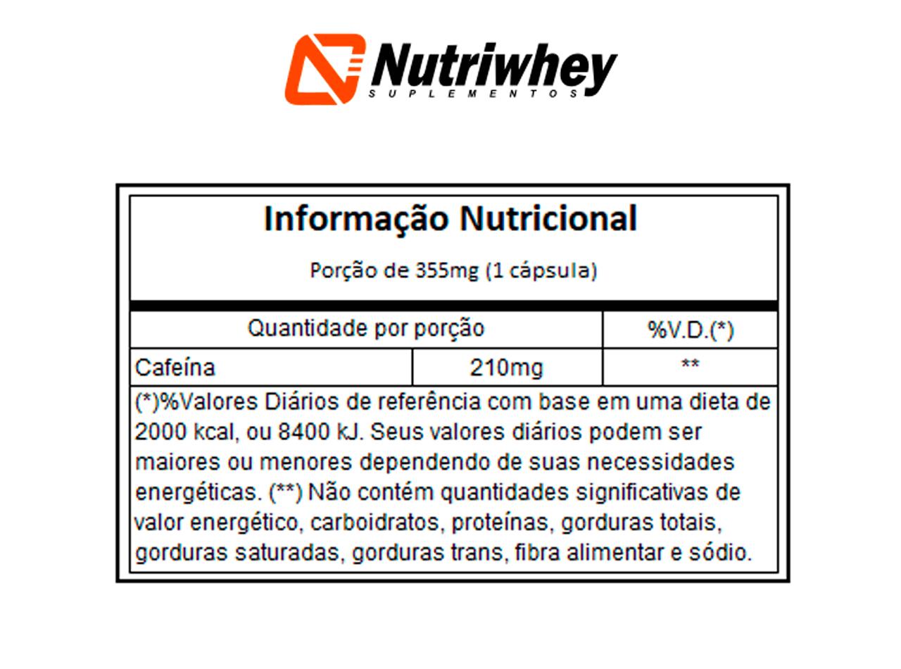 Caffeinex 210| Atlhetica Nutrition | 60 Cápsulas