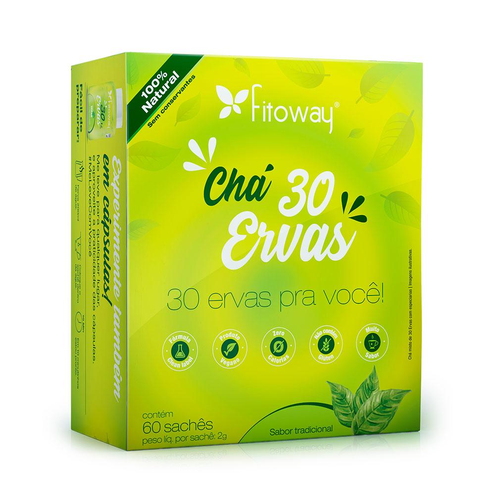 Chá 30 Ervas Fitoway - 60 sachês