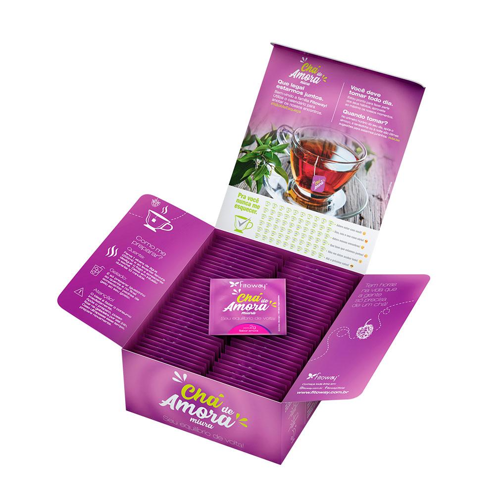 Chá de Amora Miura Fitoway - 60 sachês