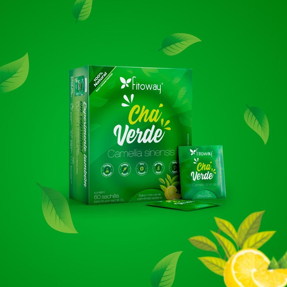 Chá Verde Fitoway - 60 sachês