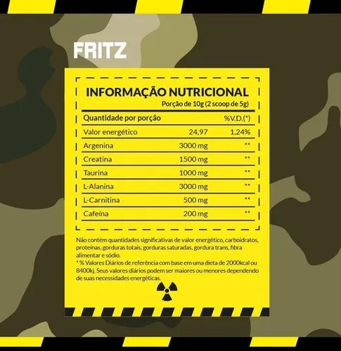FRITZ  PRE-WORKOUT | 150G | EVOROX