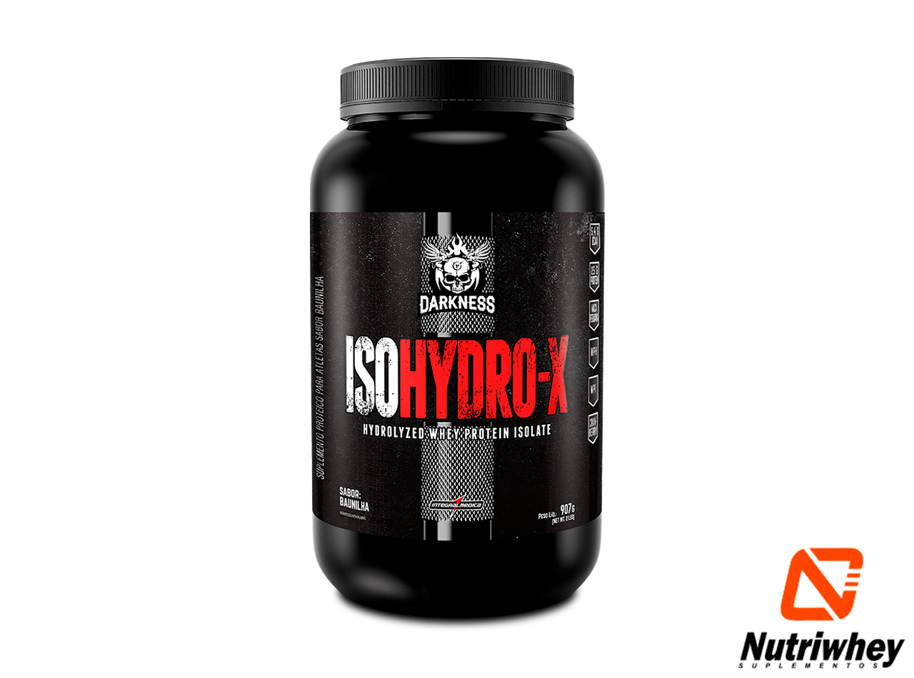 ISO Hydro-X - Whey Protein Isolado |Darkness - Integral Médica | 907g