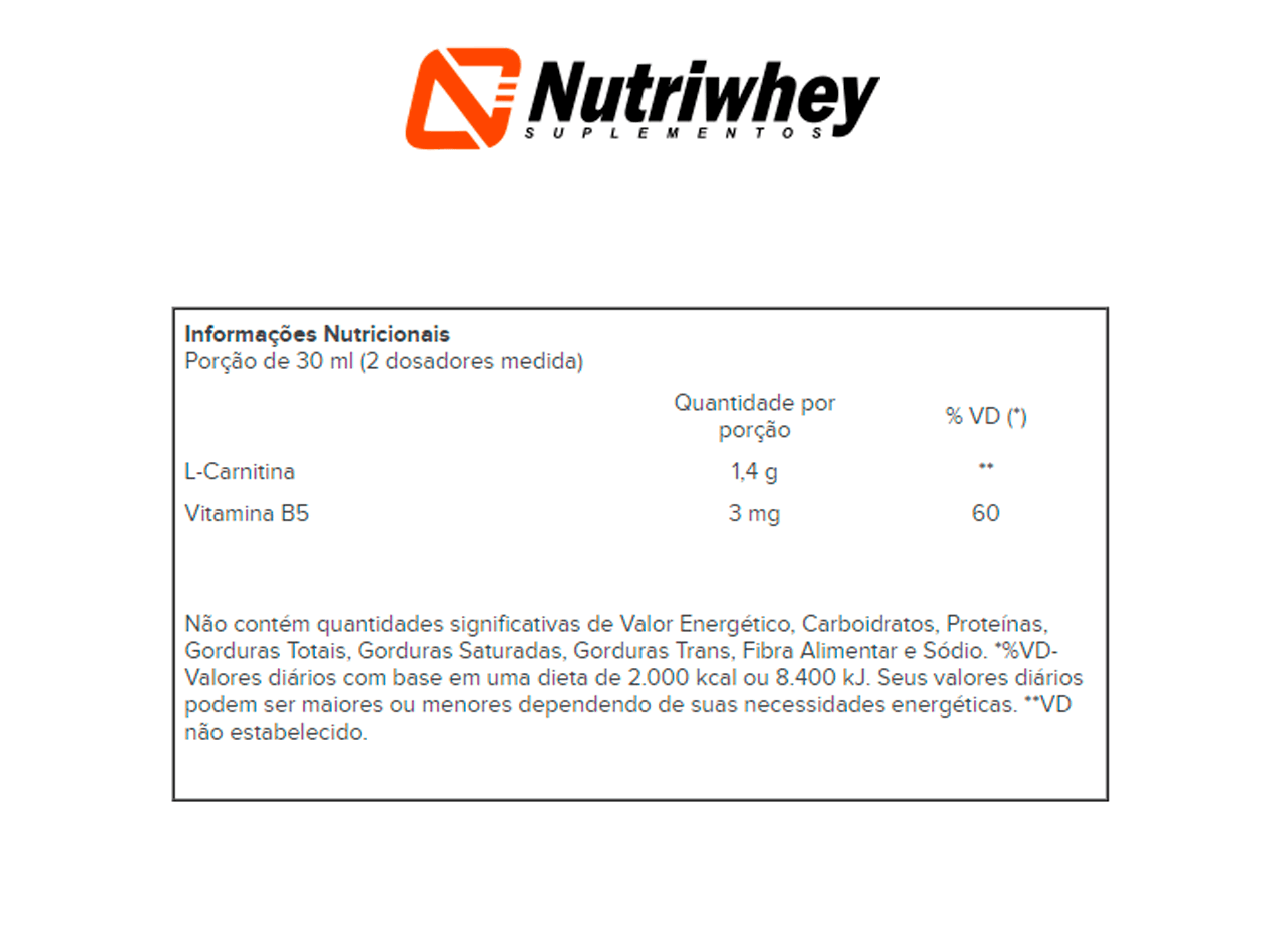 L-Carnitina 1400 | Atlhetica Nutrition | 480ml