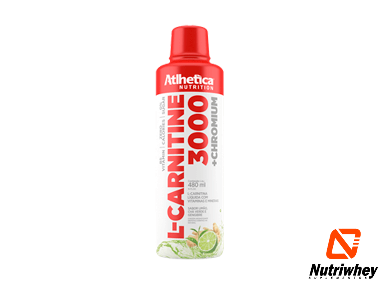L-Carnitina 3000 + Chromium | Atlhetica Nutrition | 480ml