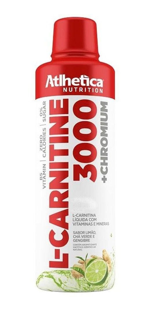L-Carnitina 3000 + Chromium | Atlhetica Nutrition | 480ml