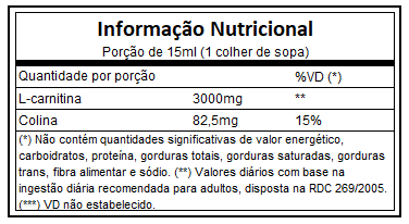 L - Carnitina 3000 | Frutas Vermelhas | Adaptogen | 465ml