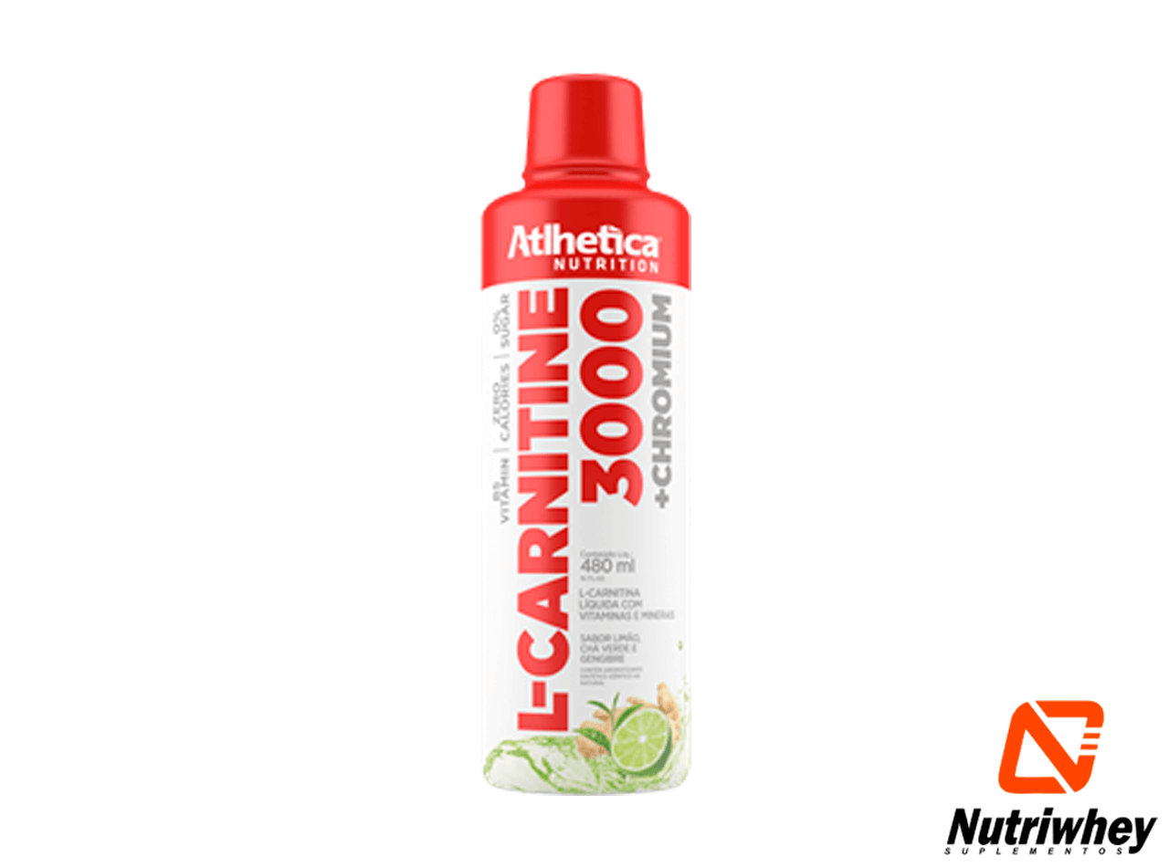 L-CARNITINE 3000 + Chromium | Atlhetica Nutrition | 960ml