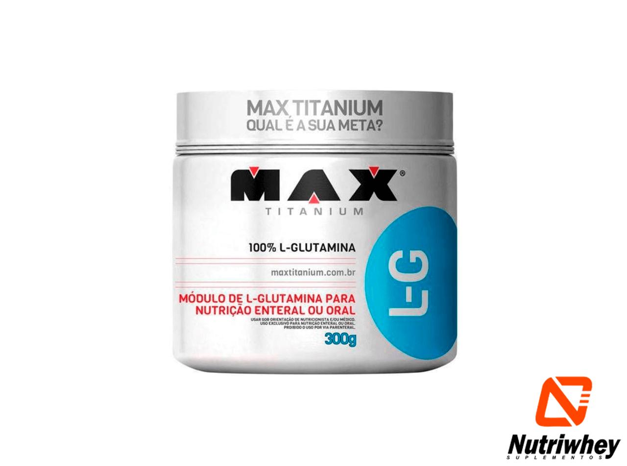 L-G Glutamina | Max Titanium | 300g