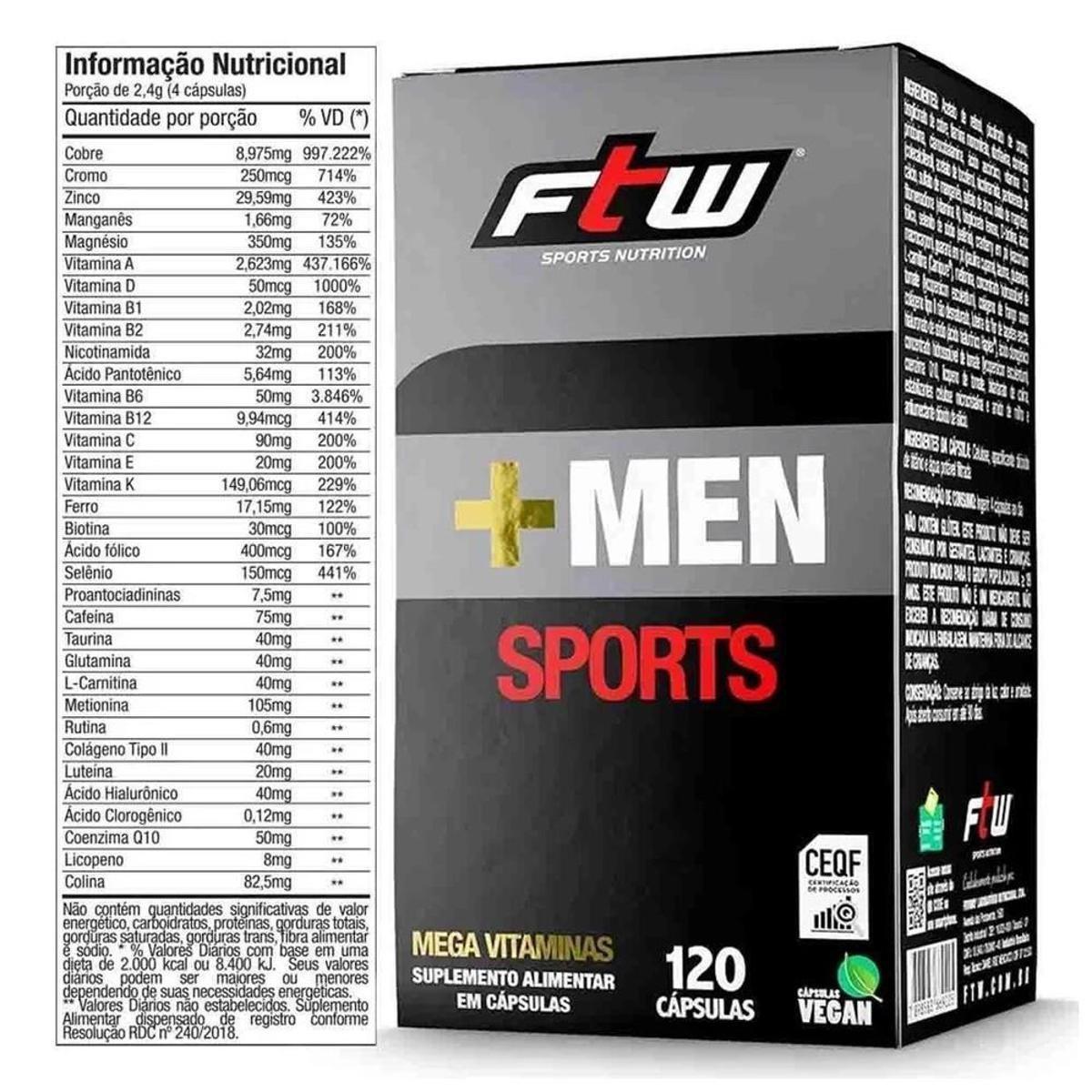 + MEN SPORTS|120CAPS| FTW