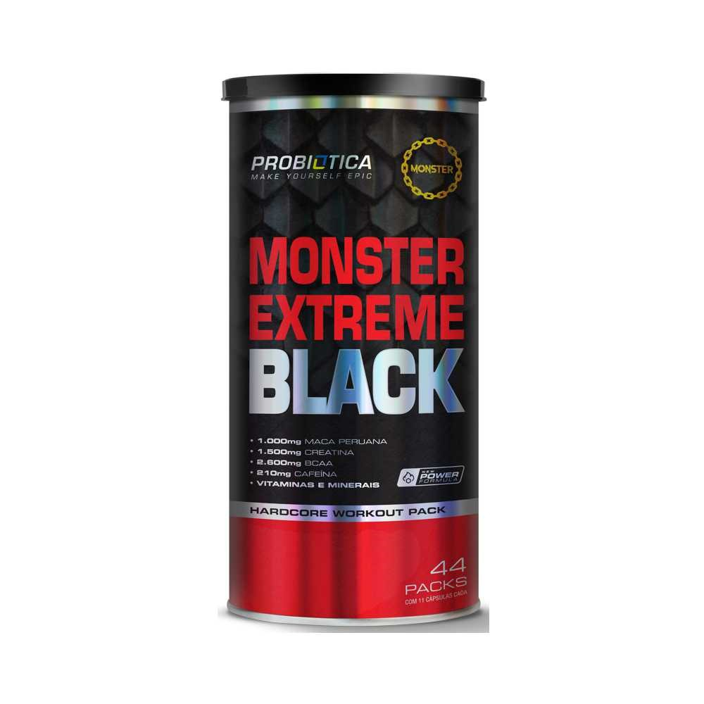 MONSTER EXTREME BLACK | 44 PACKS | PROBIOTICA