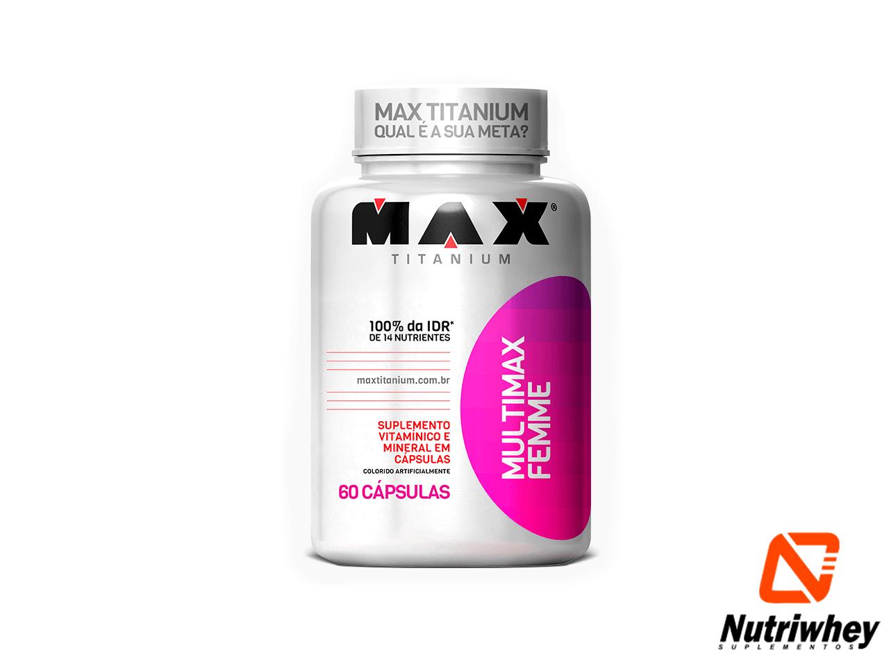 Multimax Femme | Max Titanium | 60 Cápsulas