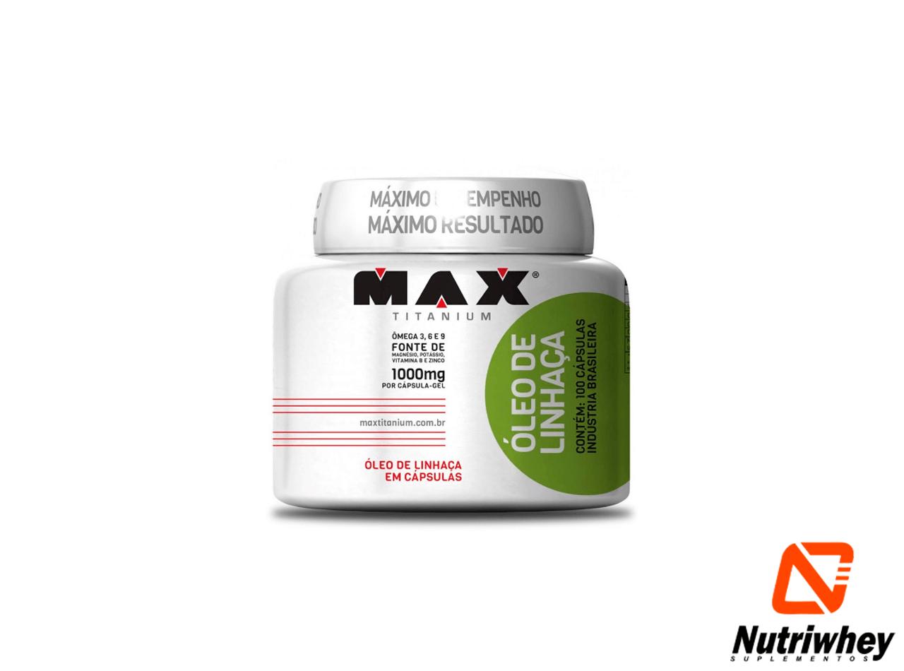 Oleo de Linhaça | Max Titanium | 100 Cápsulas