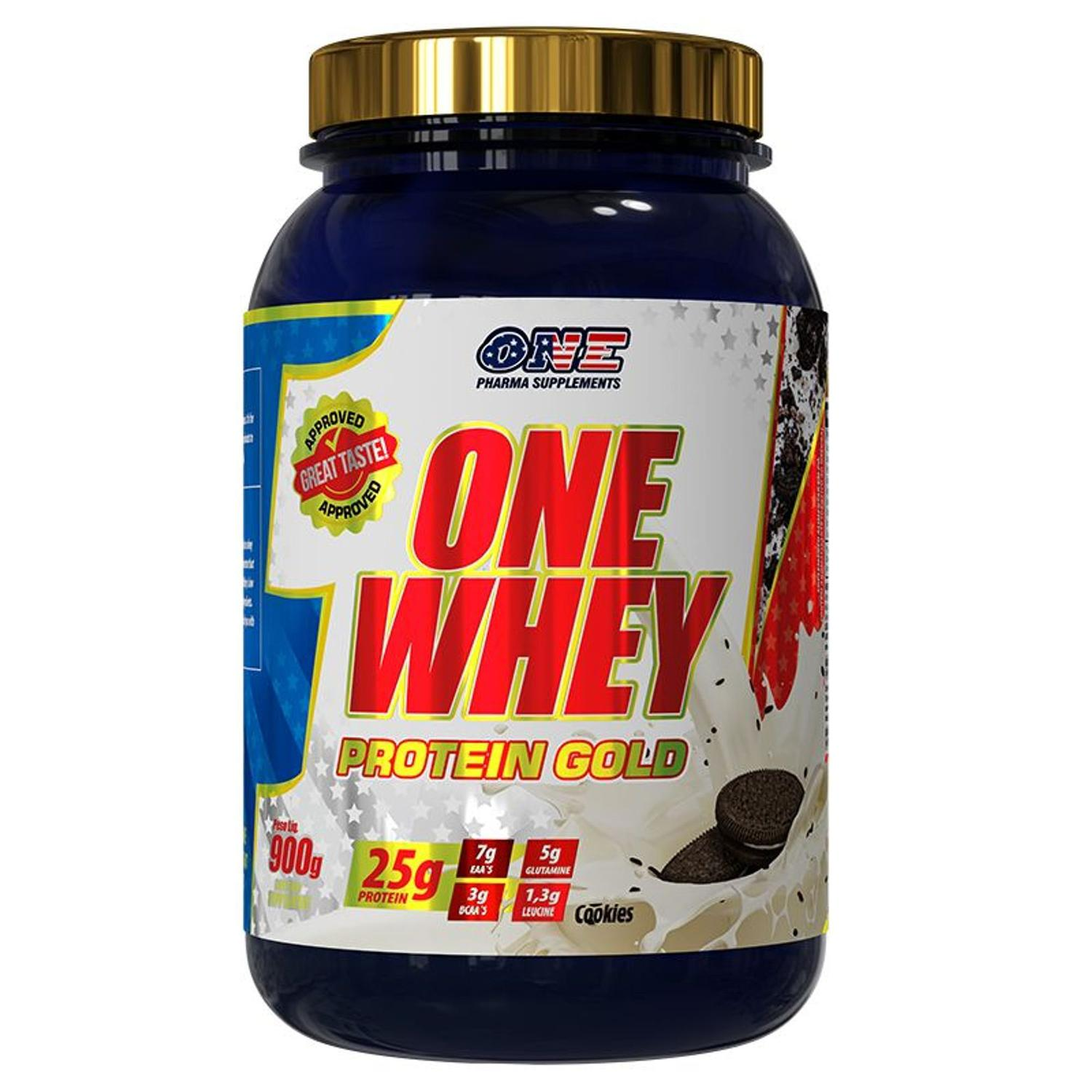 ONE WHEY PROTEIN GOLD (900G) - ONE PHARMA SUPPLEMENTS