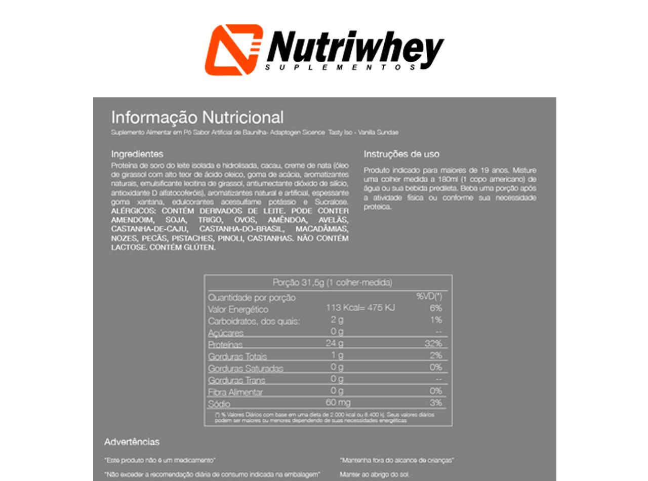 Tasty ISO Hidrolisado   Adaptogen   945g
