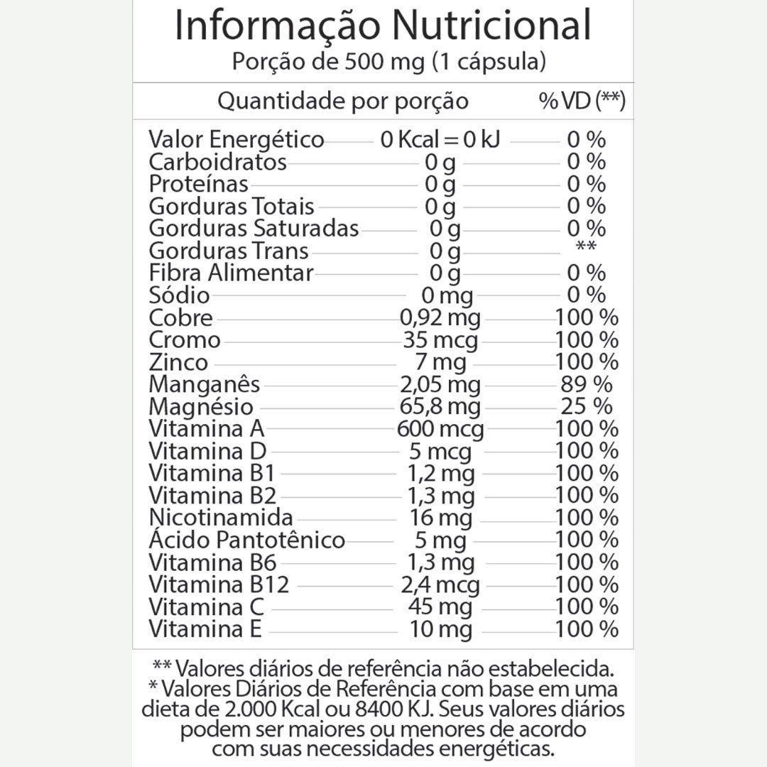 Vitaway 100% IDR Polivitamínico A a Z Fitoway  30 cáps