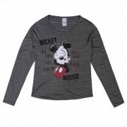 Blusa Manga Longa Cativa Estampa com Glitter Mickey com Vergonha Marcado Batom - 10 ao 16