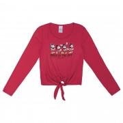 Blusa Cativa Estampa Glitter Mickeys Mood Of The Day, Amarração Frontal - 10 ao 16