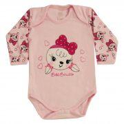 Body Bebê Brincalhão Bordado Coelha - RN ao G