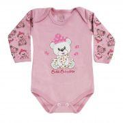 Body Bebê Brincalhão Bordado Ursa com Coroa - RN ao G