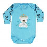 Body Bebê Brincalhão Bordado Urso Real - Rn ao G