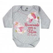 Body Bebê Brincalhão Estampa Frases Brincando com a Titia - RN ao M
