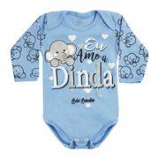 Body Bebê Brincalhão Frases Eu Amo a Dinda - Rn ao G