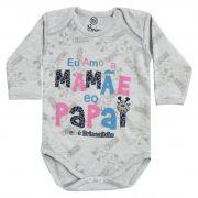 Body Bebê Brincalhão Frases Eu Amo a Mamãe e o Papai - RN ao G