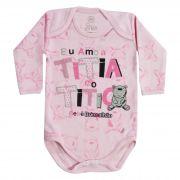 Body Bebê Brincalhão Frases Eu Amo a Titia e o Titio