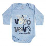Body Bebê Brincalhão Frases Eu Amo a Vovó e o Vovô - Rn ao G