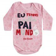 Body Bebê Brincalhão Frases Melhor Pai do Mundo - Rn ao G
