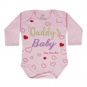 Body Bebê Brincalhão Frases Mon And Dad, Mommy's Girl, Daddy's Baby - RN ao G