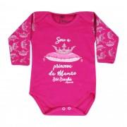Body Bebê Brincalhão Frases Sou a Princesa da Mamãe - RN ao G