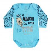 Body Bebê Brincalhão Frases Sou o Amor da Titia e do Titio - Rn ao G