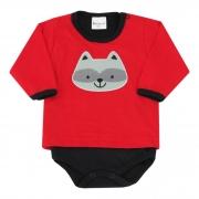 Body Bebênyl Com Camiseta Meia Malha - Com Aplicação Bichinhos - P ao G