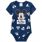 Body Brandili Baby Meia Manga de Cotton com Estampa do Mickey - P ao G