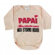 Body Pequenino Baby Frases Papai Meu Primeiro Amor Meu Eterno Herói - P ao G