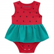 Body Vestido Regata Brandili Baby Melancia - P ao G
