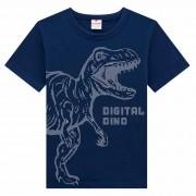 Camiseta Meia Manga Brandili Dino Digital - 4 ao 10