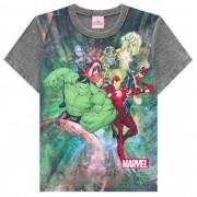Camiseta Meia Manga Brandili Heróis - 4 ao 10