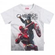 Camiseta Meia Manga Brandili Capitão America Vs Homem Ferro - 4 ao 10
