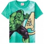 Camiseta Meia Manga Brandili Hulk Vingadores - 4 ao 10