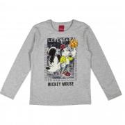 Camiseta Cativa Estampa com Neon Mickey Rodando Bola no Dedo - 4 ao 10