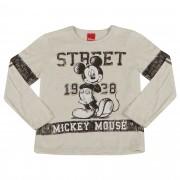 Camiseta Cativa Estampa Mickey Street 1928 com Detalhe Mangas - 4 ao 8