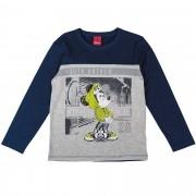 Camiseta Manga Longa Cativa Estampa Refletiva Mickey com Boné e Capuz - 4 ao 10
