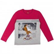 Camiseta Cativa Estampa Refletiva Mickey com Boné e Capuz - 4 ao 10