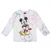 Camiseta Manga Longa Cativa Estampa Rotativa Mickey Mouse - 1 ao 3