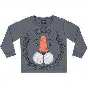 Camiseta Kiko e Kika Estampa Leão - P ao G