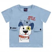 Camiseta Kiko e Kika Manga Curta Meia Malha  - Dog - P ao G