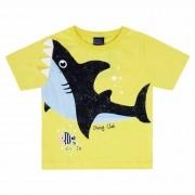 Camiseta Meia Manga Kiko e Kika Tubarão - 1 ao 3